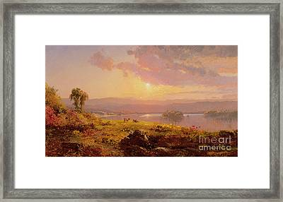 Susquehanna River Framed Print by Jasper Francis Cropsey