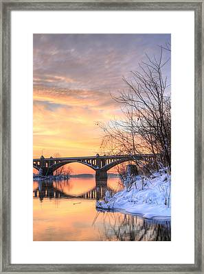 Susquehanna Sunrise Framed Print by JC Findley