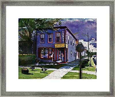 Susquehanna Trading Company Framed Print by Dean Gleisberg