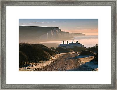 Sussex Coast Guard Cottages Framed Print