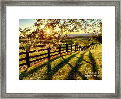 Sussex County Sunset Framed Print