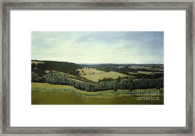 Sussex England - Landscape In Oils Framed Print