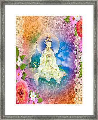 Sutra-holding Kuan Yin 1 Framed Print by Lanjee Chee
