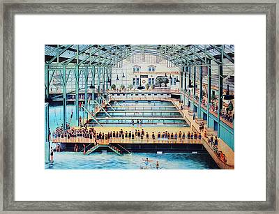 Sutro Baths At The Cliff House Framed Print