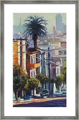 Post Street Framed Print