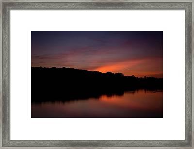 Suwannee Sundown Framed Print
