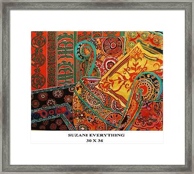 Suzani Everything Framed Print by Linda Arthurs