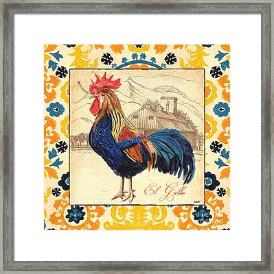 Suzani Rooster 1 Framed Print by Debbie DeWitt