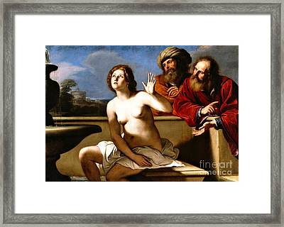 Suzanna And The Elders Framed Print by Pg Reproductions