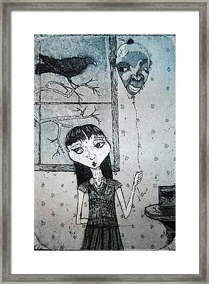 Framed Print featuring the mixed media Suzannah by Josean Rivera