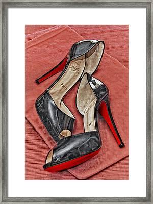 Suzette Loves Her Louboutins Framed Print