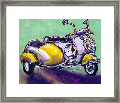 Suzie Sidecar Framed Print by Sheila Tajima