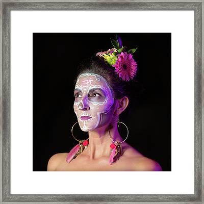 Suz's Sugar Skull Four Framed Print