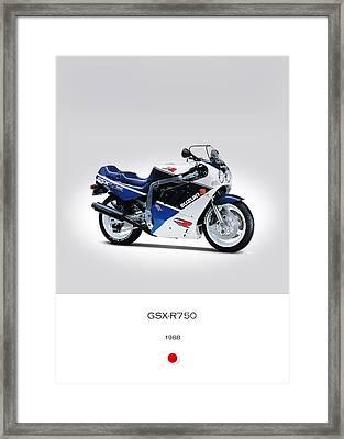 Suzuki Gsx-r750 1988 Framed Print