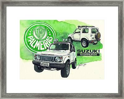 Suzuki Samurai Framed Print by Yoshiharu Miyakawa