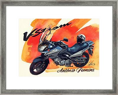 Suzuki Strom 650 Framed Print by Yoshiharu Miyakawa
