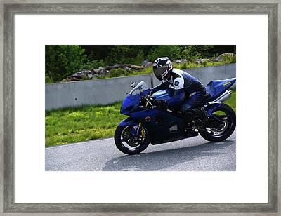 Suzuki Training Wheels Framed Print