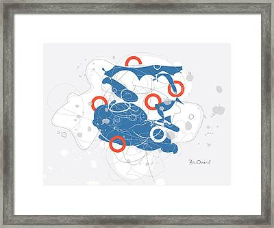 Suzukigo - Retro-modern Abstract Framed Print by Bill ONeil