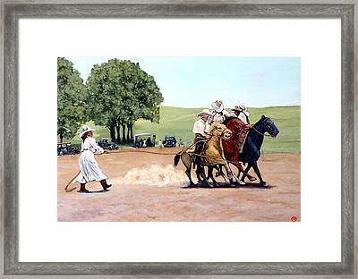Suzzi Q. Whirling The Rope Framed Print by Tom Roderick