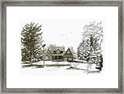 Svege Ny In Winter Framed Print by Yvonne Ayoub