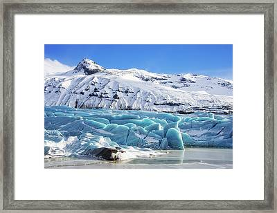 Framed Print featuring the photograph Svinafellsjokull Glacier Iceland by Matthias Hauser