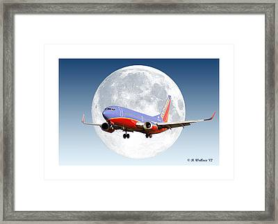 Sw Moon Framed Print by Brian Wallace
