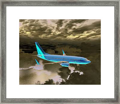 Framed Print featuring the digital art Swa 001 by Mike Ray