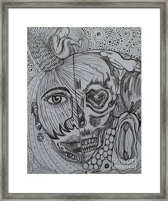 Swallowed Pride Framed Print by Anita Wexler