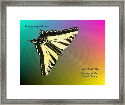 Swallowtail - Come Fly Away With Me Framed Print by Joyce Dickens