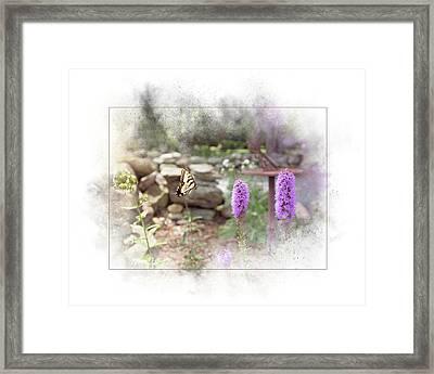 Framed Print featuring the digital art Swallowtail by Sue Collura