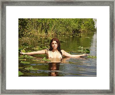 Framed Print featuring the photograph Swamp Beauty Three by Lucky Cole