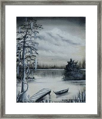 Swamp Boat Framed Print