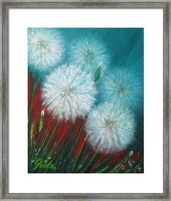 Swamp Dandelions Framed Print
