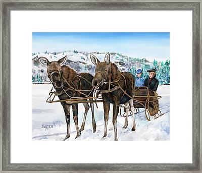 Swamp Donkies Framed Print