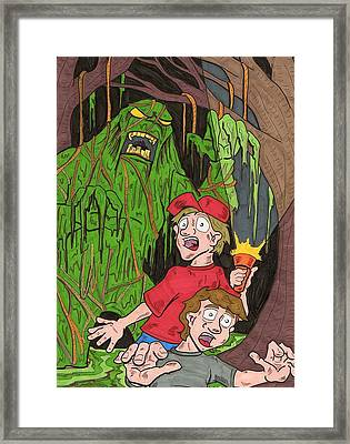 Swamp Monster Framed Print by Anthony Snyder
