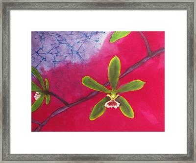 Swamp Orchi Fine Art Batik Framed Print