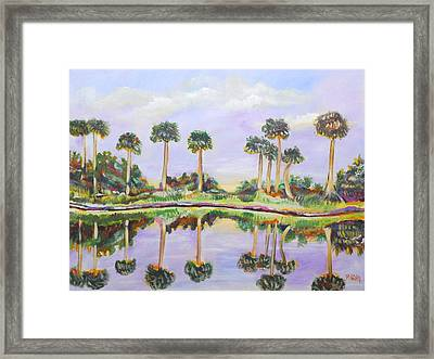 Swamp Palms Framed Print