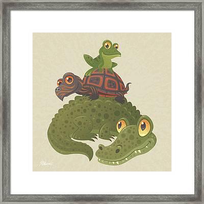Swamp Squad Framed Print by John Schwegel