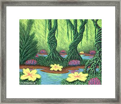 Swamp Things 02, Diptych Panel A Framed Print