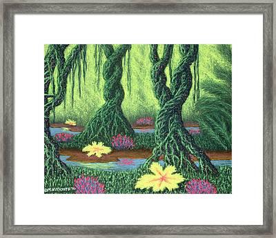Swamp Things 02, Diptych Panel B Framed Print