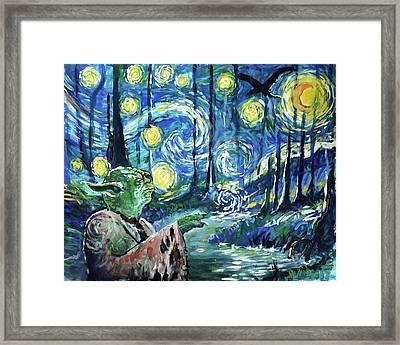 Swampy Night Framed Print by Tom Carlton