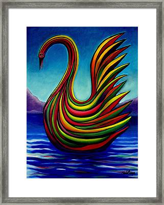 Swan #2 Framed Print by Chris Boone