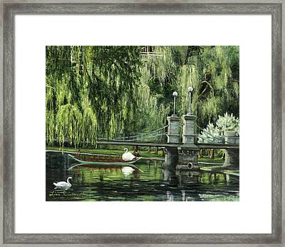 Swan Boats Framed Print by Lisa Reinhardt