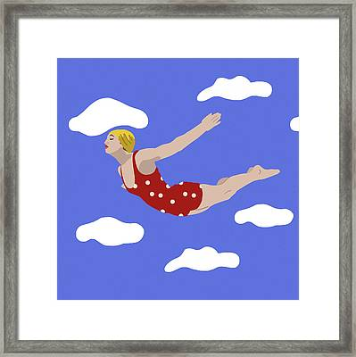 Swan Dive Framed Print by Nicole Wilson