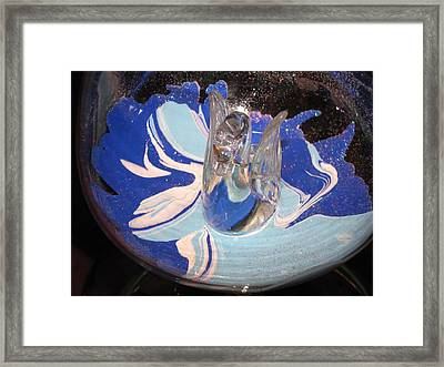 Swan In A Wine Glass Framed Print by HollyWood Creation By linda zanini