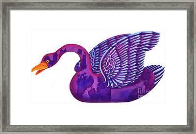 Swan Framed Print by Jane Tattersfield