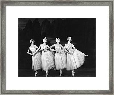 Swan Lake Framed Print by Baron