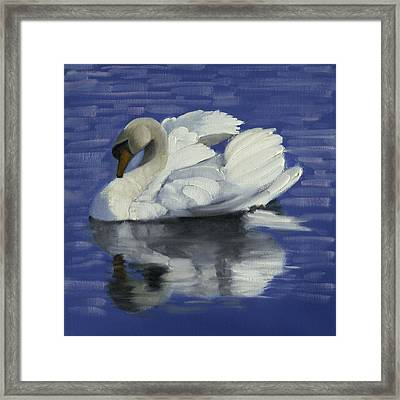Swan Lake Framed Print by John Reynolds