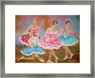 Swan Lake  Framed Print by Kalpana Talpade Ranadive