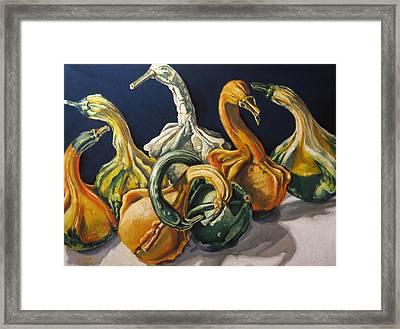 Swan Lake Framed Print by Outre Art  Natalie Eisen